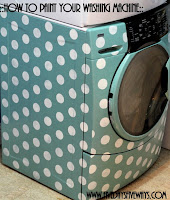 how to paint your washer/dryer