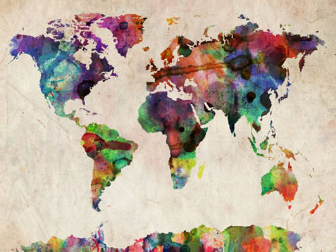 World metro map art world map canvas gumiabroncs Choice Image