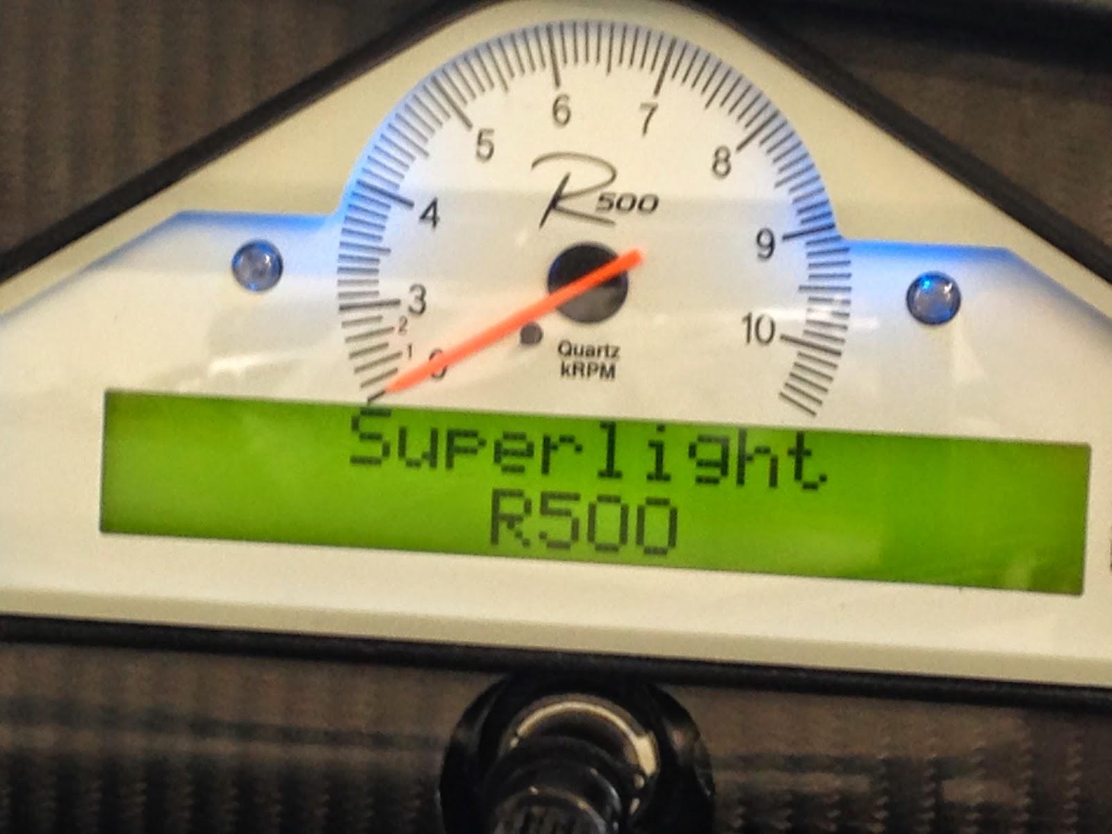 Caterham R500 STACK dash.