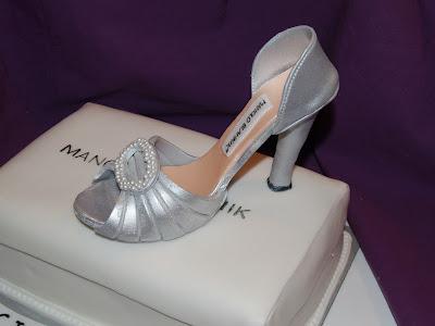 Tarta fondant zapato manolo blahnik