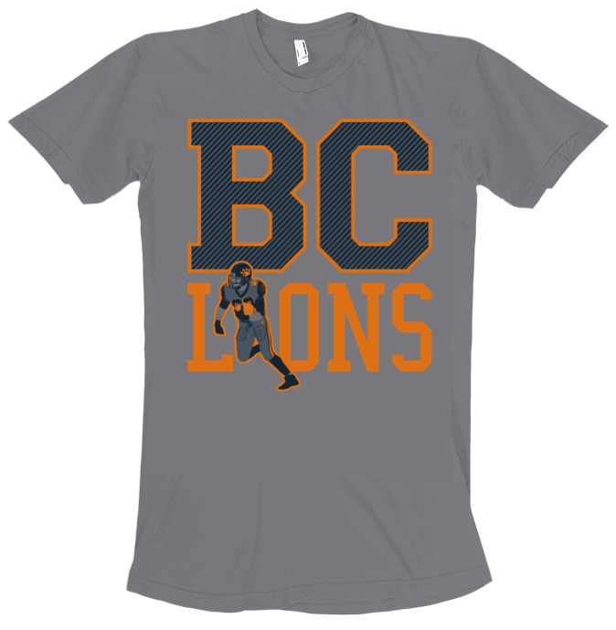 Lower case bc lions black is the new orange for Bc lions t shirts