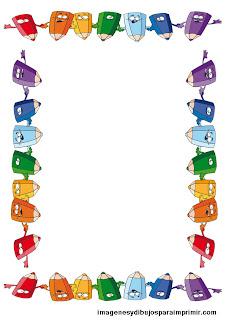 folio con colorines para imprimir