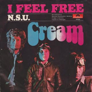 Portada del single I feel free de Cream con N.S.U. en al cara B