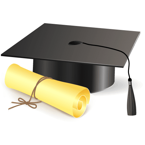 Imágenes infantiles- Birrete y diploma