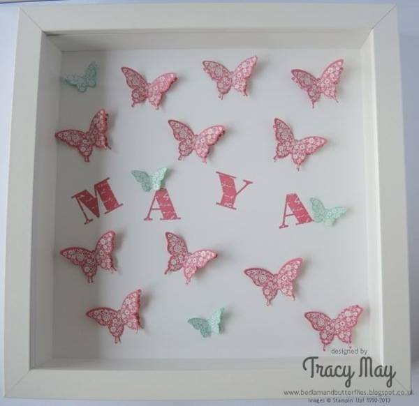 Stampin Up Papillon Potpourri elegant bitty butterfly punch Tracy May gift ideas