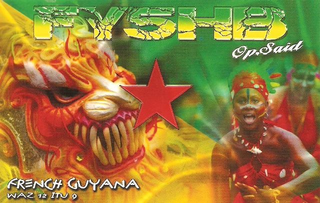 QSL - FY5HB - QSO Sat. SO50 - 25/04/2016 - French Guyana