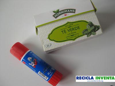 Reciclar una caja de té con Recicla Inventa