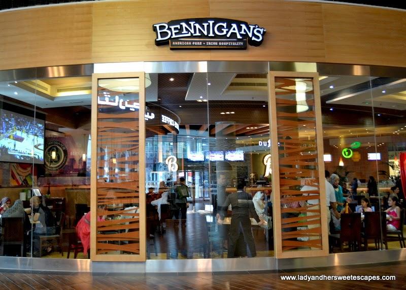 Bennigan's restaurant at The Dubai Mall