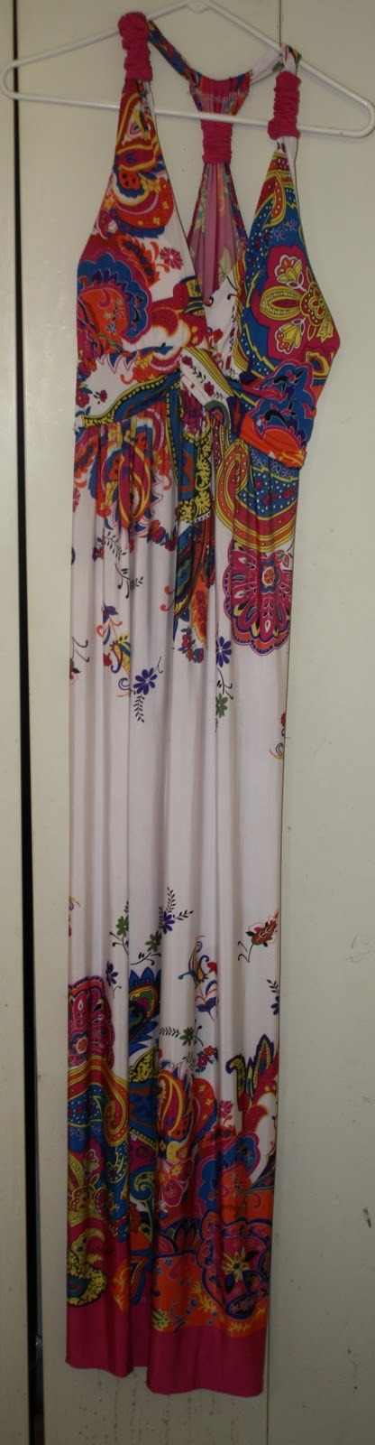 Size 3X Fuschia Maxi Dress