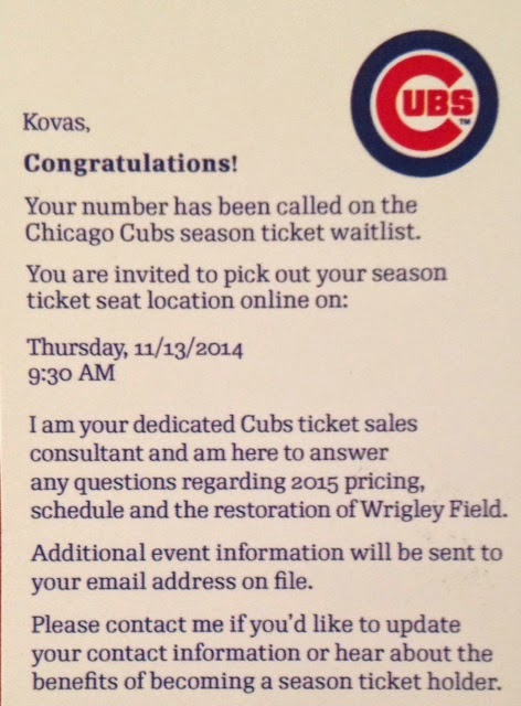 Chicago Cubs waitlist
