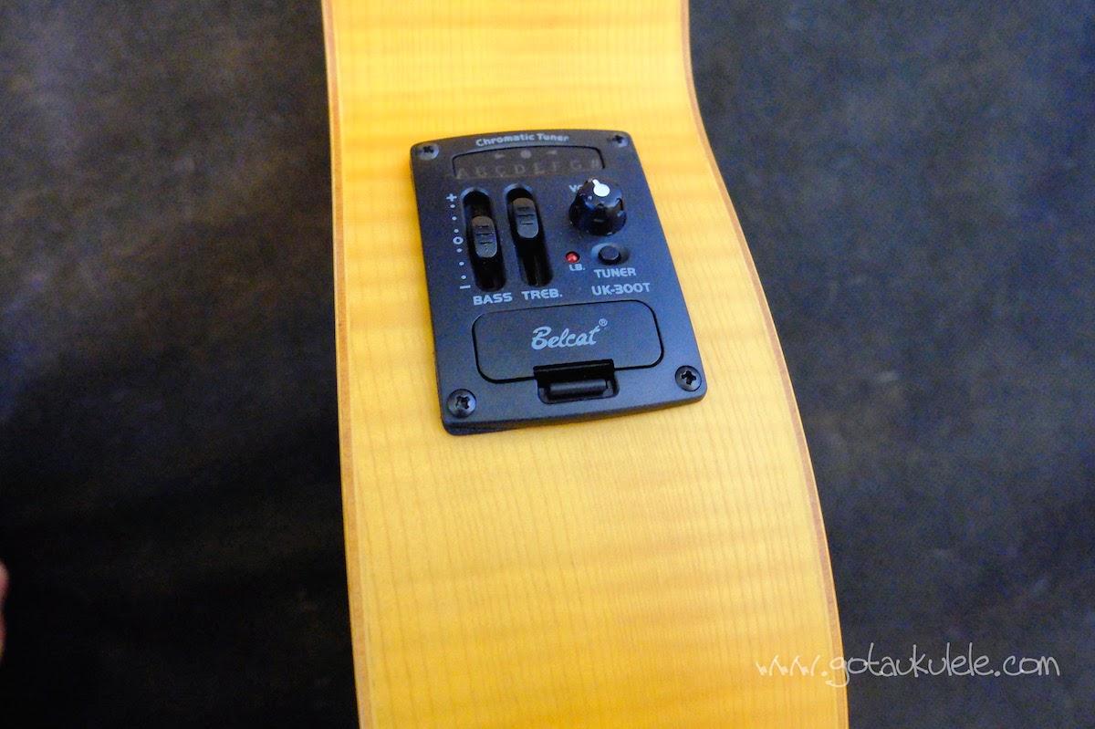 Lani LC-55MOCEQ Concert Ukulele EQ Controls