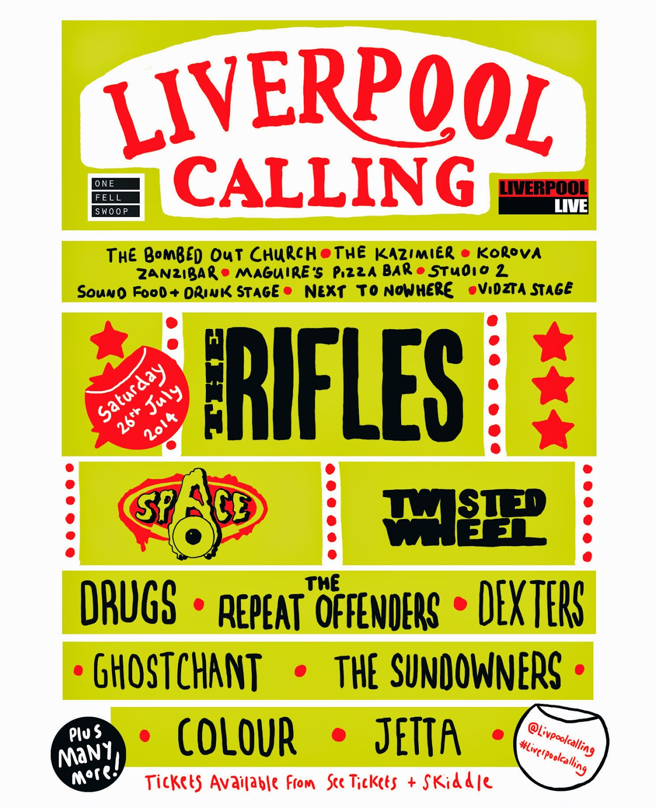 Liverpool Calling 2014 - Final Line-Up Confirmed