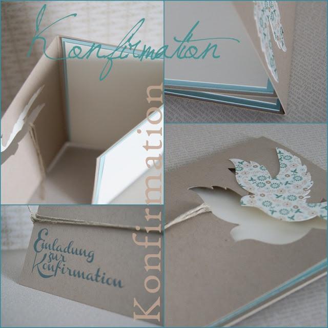 Veridiana fromm einladung zur konfirmation - Postkarten selber basteln ...