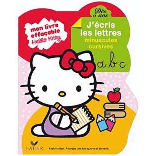 livre d'écriture Hello kitty