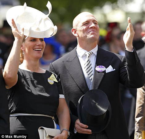 Zara and Mike Tindall on day 1 at Royal Ascot