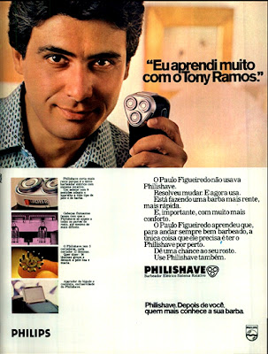 propaganda barbeador Philishave 1979; os anos 70; propaganda na década de 70; Brazil in the 70s, história anos 70; Oswaldo Hernandez;
