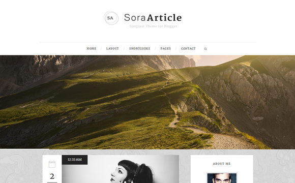 Sora Article Blogger Template