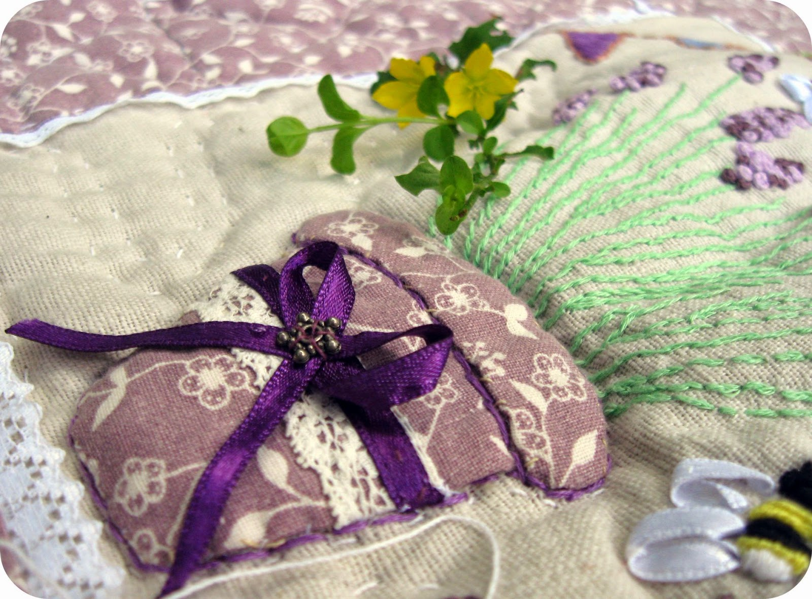 лаванда вышивка