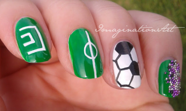 male nail art uomo unghie smalto nail polish lacquer sport calcio football