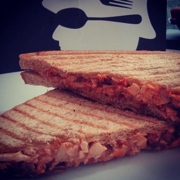 Smoked Chicken, Jalapeño & Garlic Aioli Sandwich at Pico Express