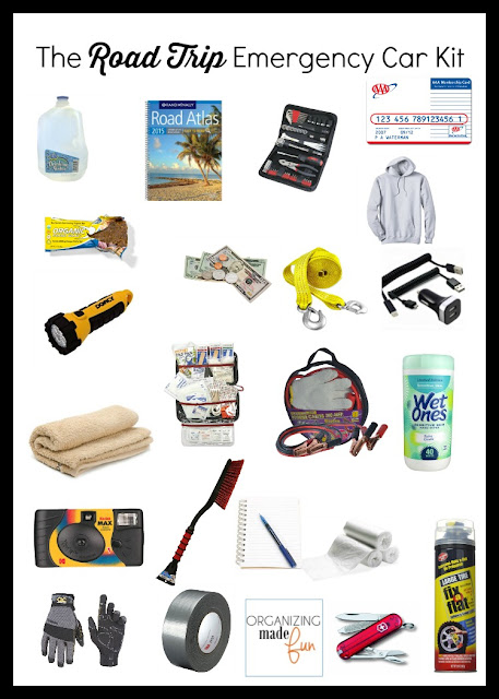 The Road Trip Emergency Car Kit :: OrganzingMadeFun.com