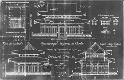 Exposition universelle de Paris 1900 - Pavillon de la Corée - Plan