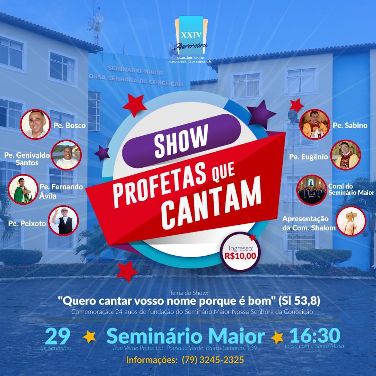 SHOW PROFETAS QUE CANTAM 2018