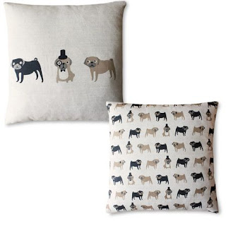 Pug Cushion - Fenella Smith