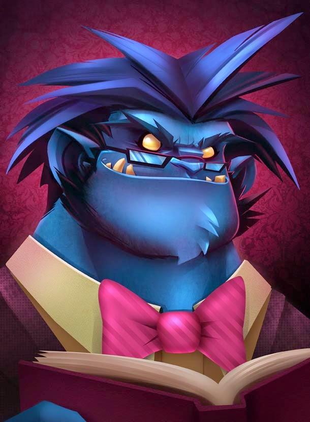 diseños de personajes por Big Menace Industries