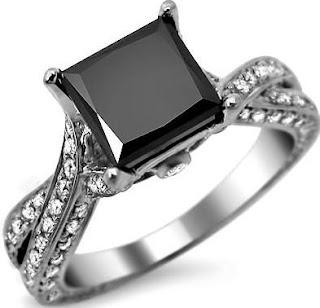 Princess Cut Black Diamond Engagement Rings Sets - The Ideal Choice