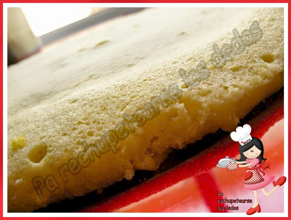 *Base de bizcocho express para tartas (thermomix y microondas)
