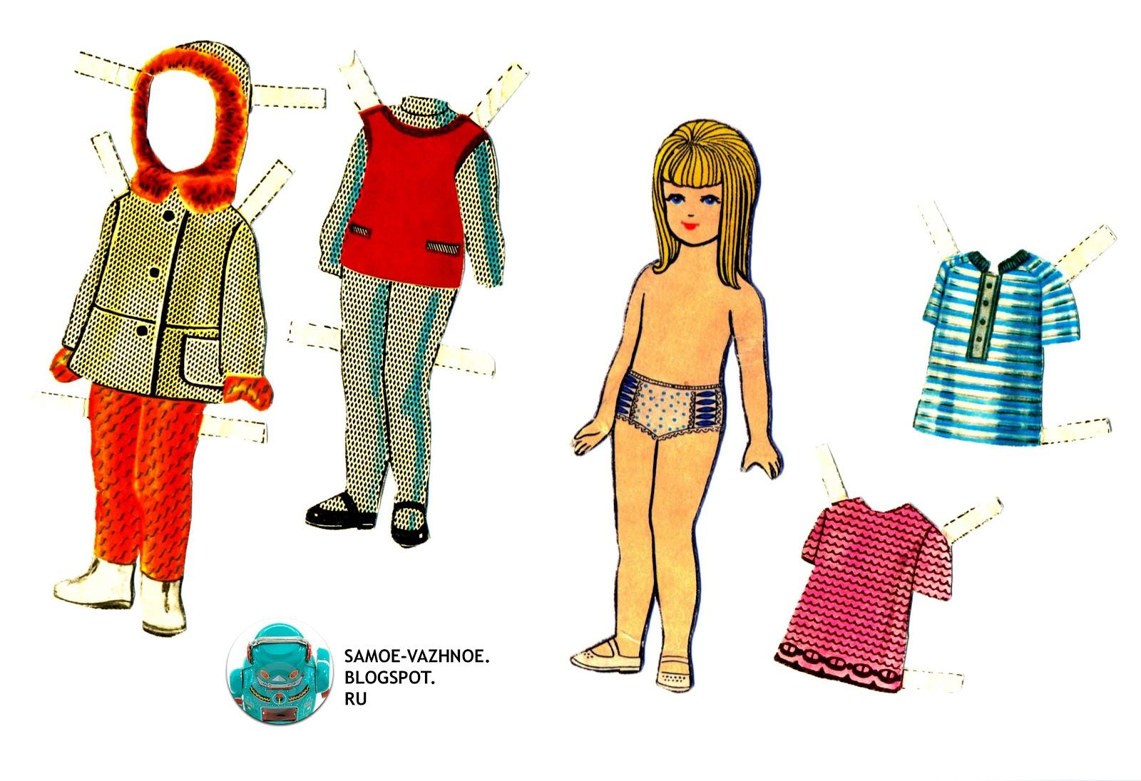 Бумажная кукла Машенька СССР
