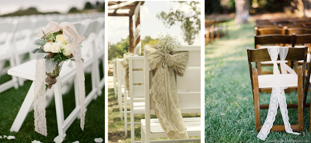 Sillas de boda decoradas con encaje