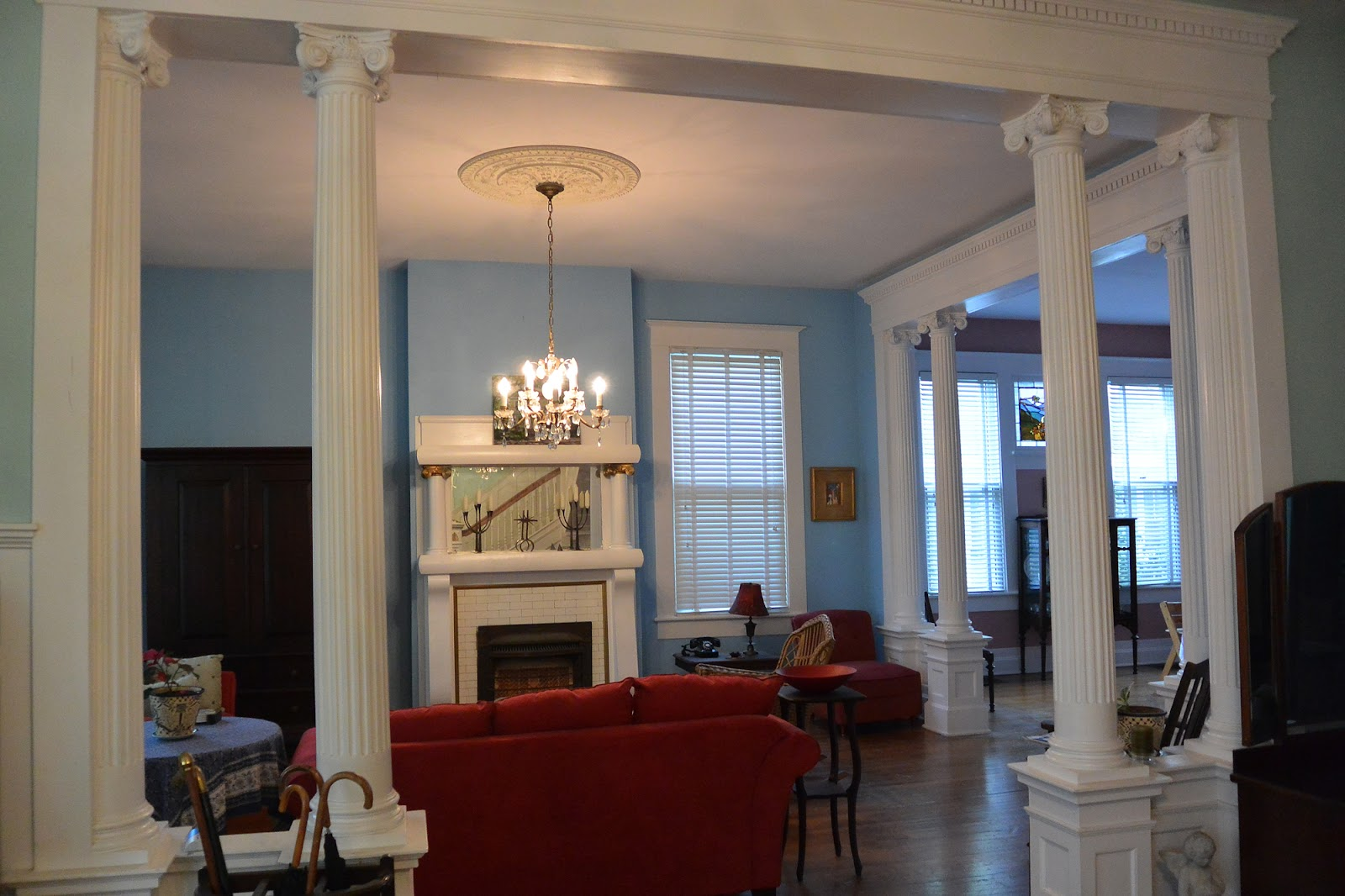 Teegee essays july 2013 for Pictures of columns in living room