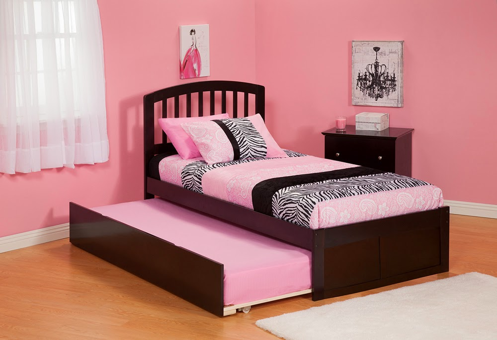 Bed with trundle bed double place for sleep best kids furniture