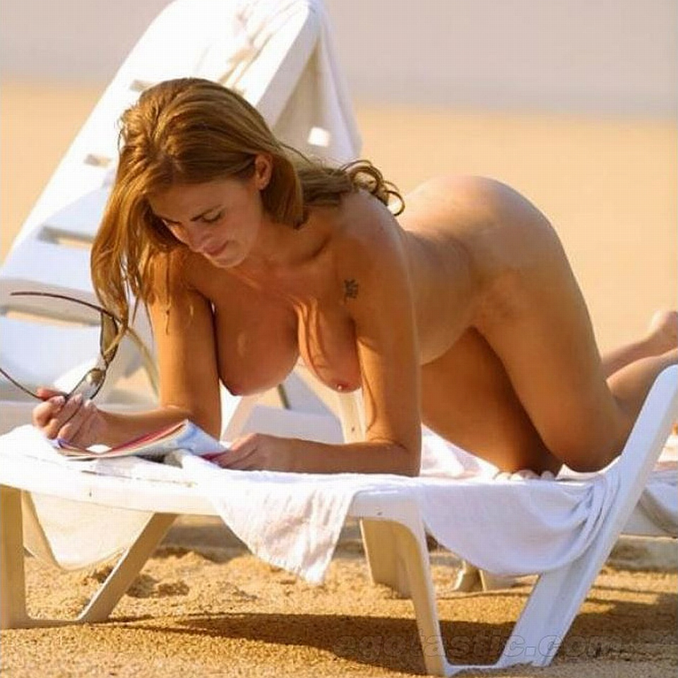 Silvina Luna nude beach Playboy hot topples Argentine model