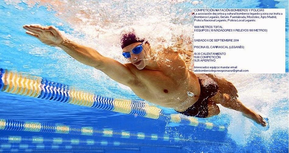 Competici n de nataci n de bomberos y polic as s bado 6 for Piscinas en leganes