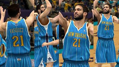 NBA 2K13 New Orleans Hornets Jersey Pack Mod