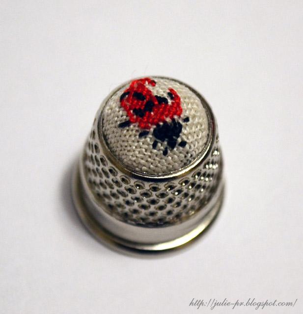 наперсток, вышивка крестом, французская вышивка, Marie-Thérèse Saint-Aubin, MTSA
