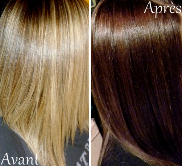 Coloration du blond au chatain