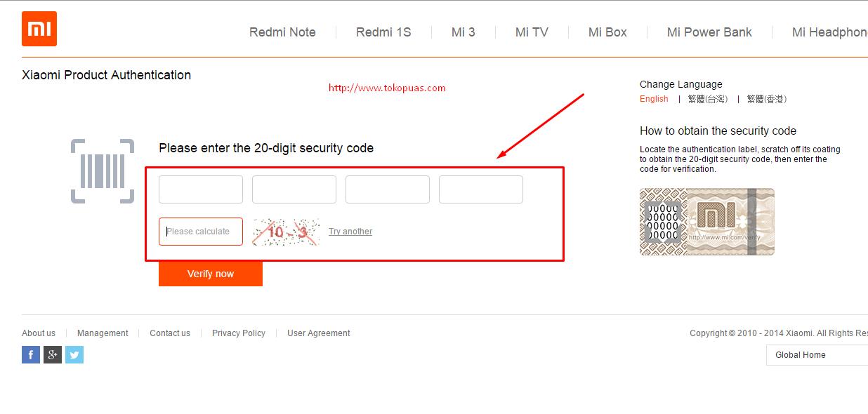 kode khusus mengecek keaslian powerbank xiaomi