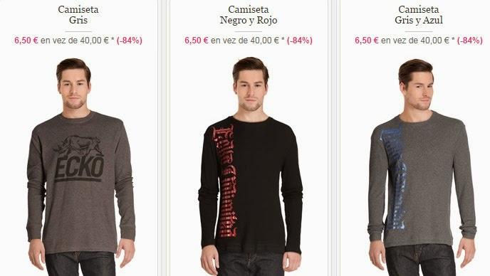 Tres camisetas que puedes comprar por sólo 6,50 euros