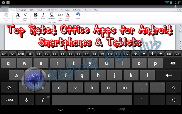 best office app for android tablet 2013