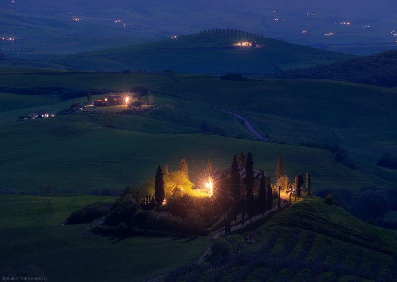 Tiny towns Tuscany, Italy