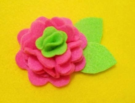 felt flowers, felt crafts, felt flowers tutorial, felt fabrics, felt ornaments