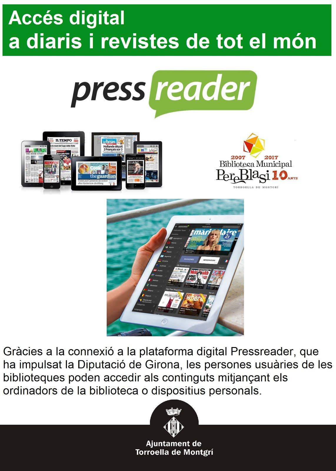 Pressreader accés digital a diaris i revistes de tot el món