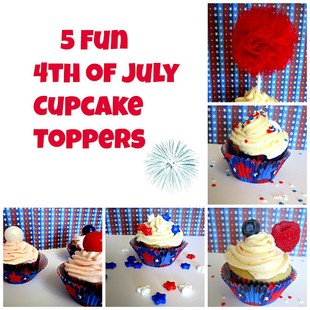 Cupcakes, 4th of July, Fizzy Party, Cupcake toppers