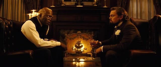 Django unchained - Stephens (Samuel L. Jackson) e Calvin J. Candie (Leonardo di Caprio)