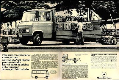 propaganda caminhão Mercedinho - Mercedes-Benz - 1979. propaganda anos 70. propaganda carros anos 70. reclame anos 70. Oswaldo Hernandez.