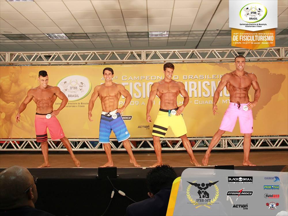 Wesley Ferreira, Ivo Toledo, Matheys Nery e Romulo Rocha disputam título Overall Men's Physique. Foto: Divulgação